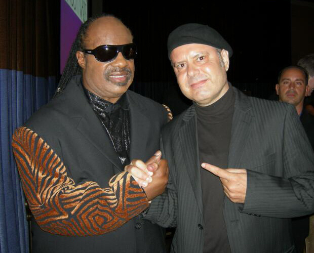 Metin with Stevie Wonder