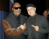 Metin and Stevie Wonder